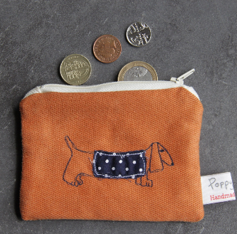 Dachshund Embroidered Small Useful Purse