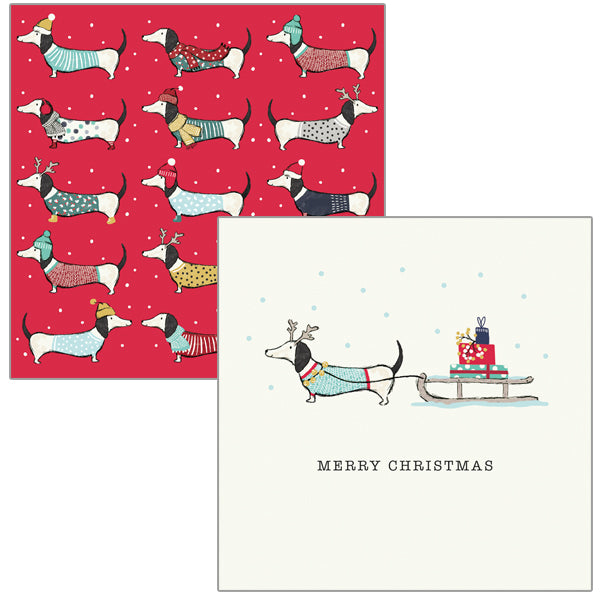 Dachshund Christmas Card Wallets