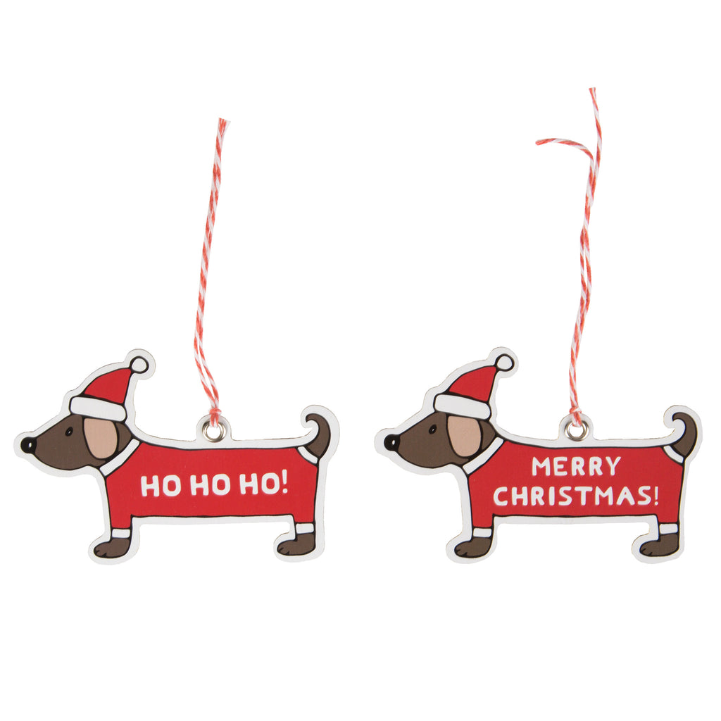 Christmas Dachshund Gift Tags (set of 12)