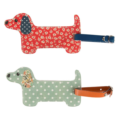 Dachshund Floral Friends Luggage Tag