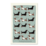 Darling Dachshunds Printed Tea Towel