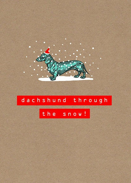 """Dachshund Through The Snow"" Boxed Christmas Cards"