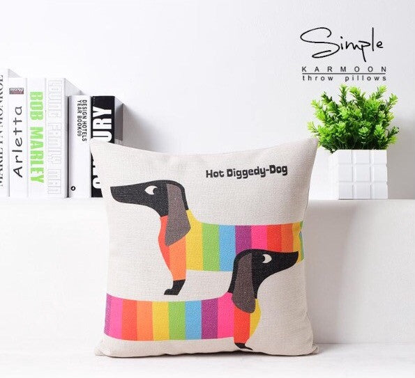Dachshund Hot Diggedy Dog Cushion Cover