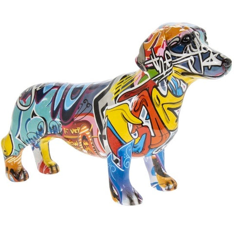 Graffiti Art Dachshund Figurine