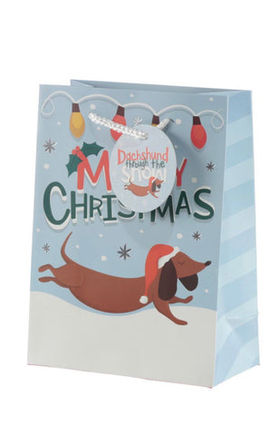 Dachshund Through The Snow Christmas Gift Bags