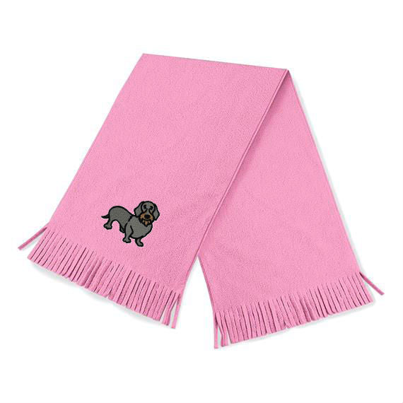 Wire-haired Dachshund Soft Pink Scarf