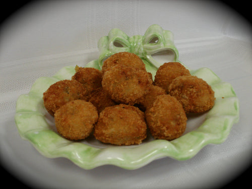 Mini Boudin Balls with PEPPER JACK CHEESE