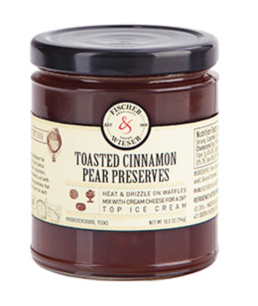 Toasted Cinnamon Pear Preserves