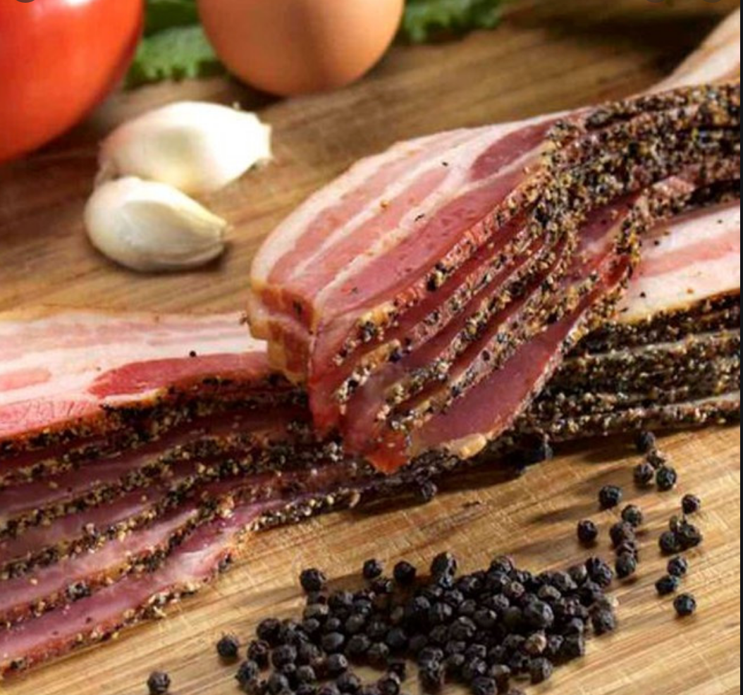 Thick Cut Hickory Smoked Peppered Bacon