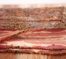 Load image into Gallery viewer, Thick Cut Hickory Smoked Peppered Bacon