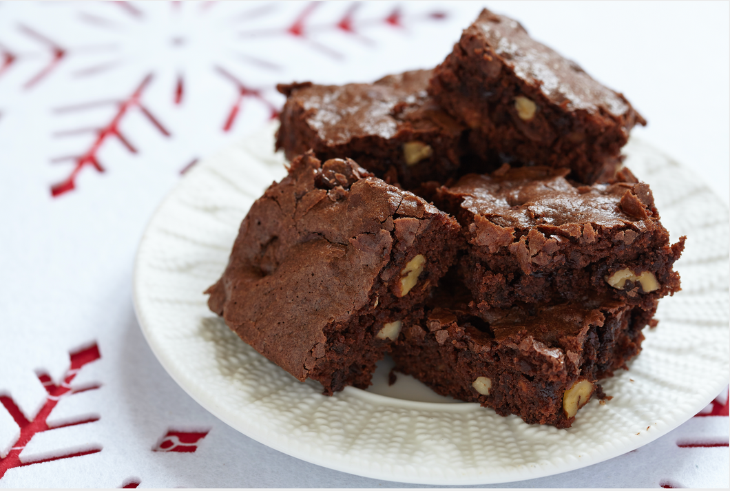Outrageous Fudgy Brownies with Walnuts