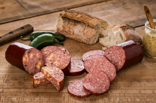 Summer Sausage with Cheese & Jalapeno