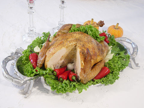 Tur-Duc-Hen Stuffed with Wild Rice & Pecans