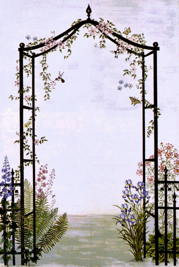 #332 Wrought Iron Archway Mural