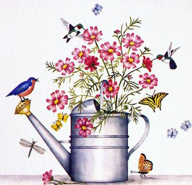 #351 Watering Can & Cosmos Mural
