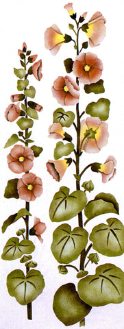 #64 Hollyhocks Stencil