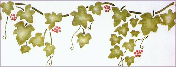 #14 English Ivy with Berries Stencil