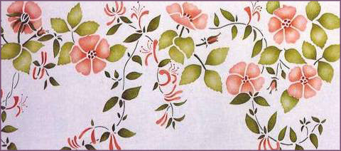 #33 Honeysuckle Rose Stencil