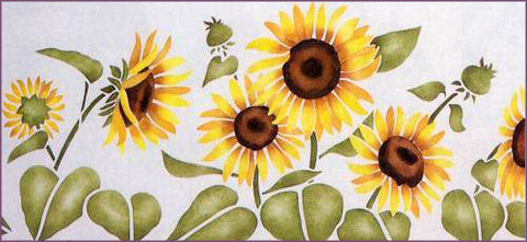 #37 Sunflowers Stencil