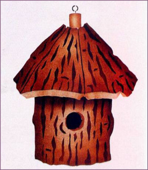 63 Country Birdhouse Stencil