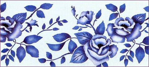 #81 Roses Stencil