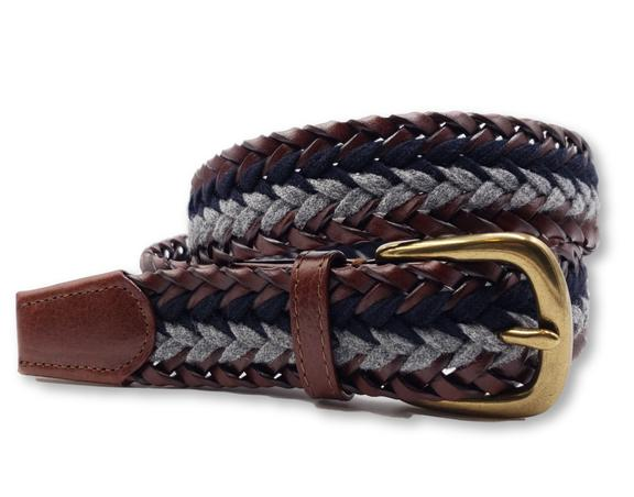 -- [Braided Leather & Wool]