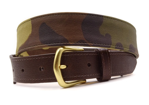 Camouflage Leather Belt - FH Wadsworth