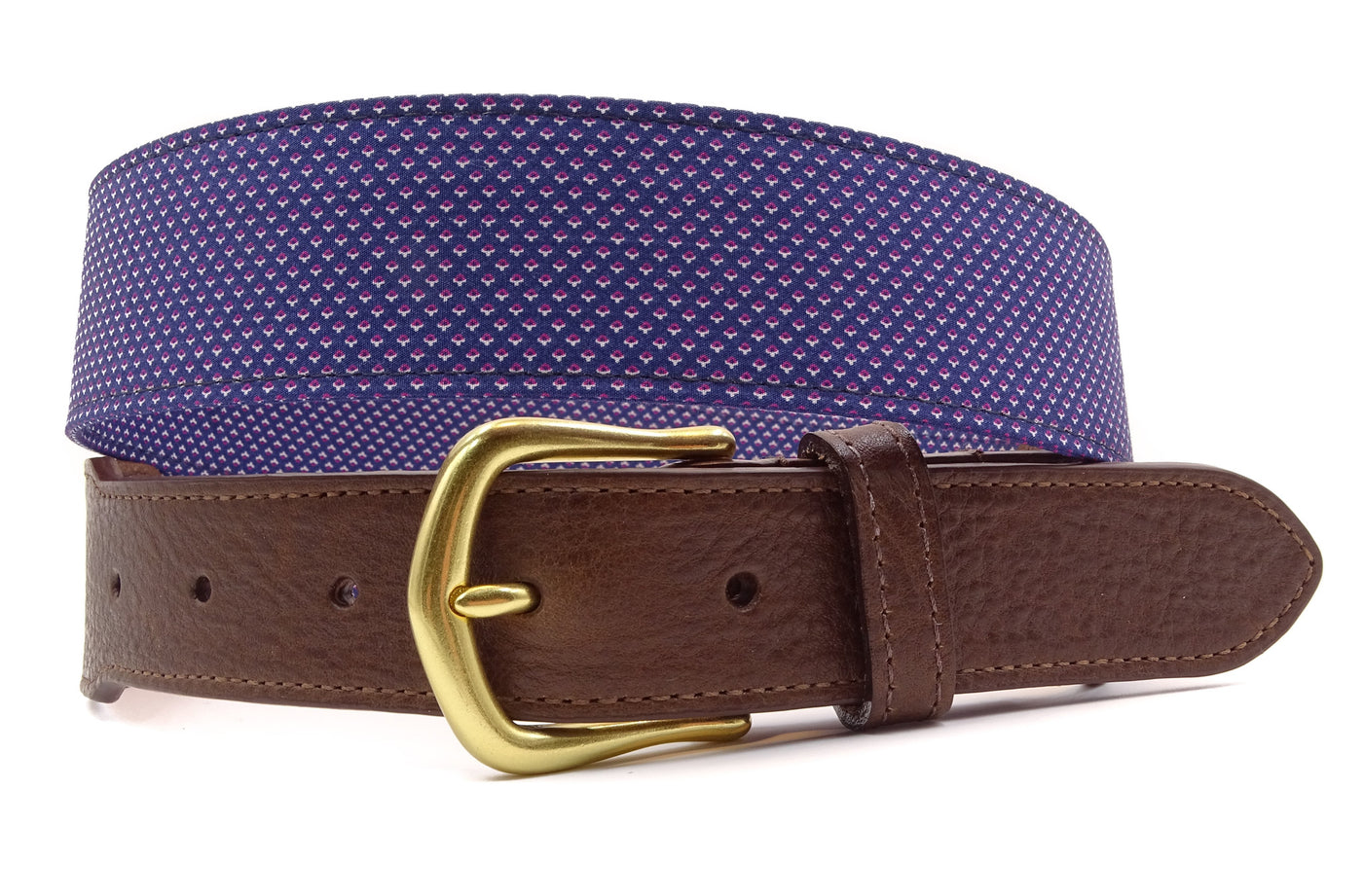 Celestial Cotton Leather Tab Belt - FH Wadsworth