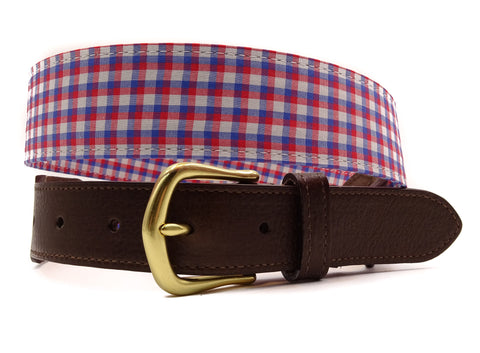Kennedy Cotton Leather Tab Belt - FH Wadsworth