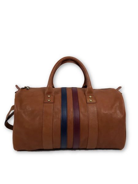 Brown Leather Duffle Bag - FH Wadsworth