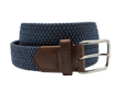 Brown & Blue Elastic Stretch Belt