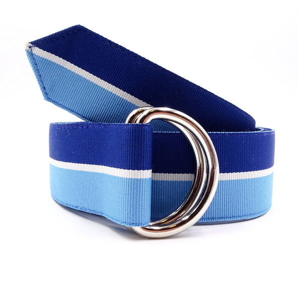 Coastal Blue & White Ribbon Belt - FH Wadsworth