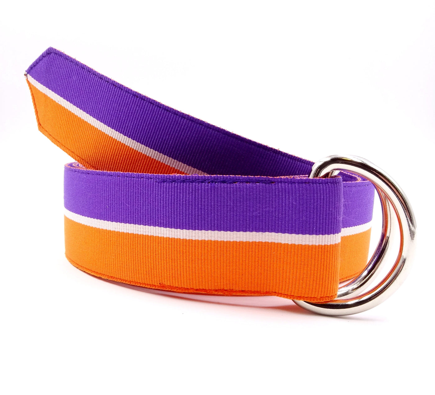 Clemson Purple & Orange Ribbon Belt - FH Wadsworth