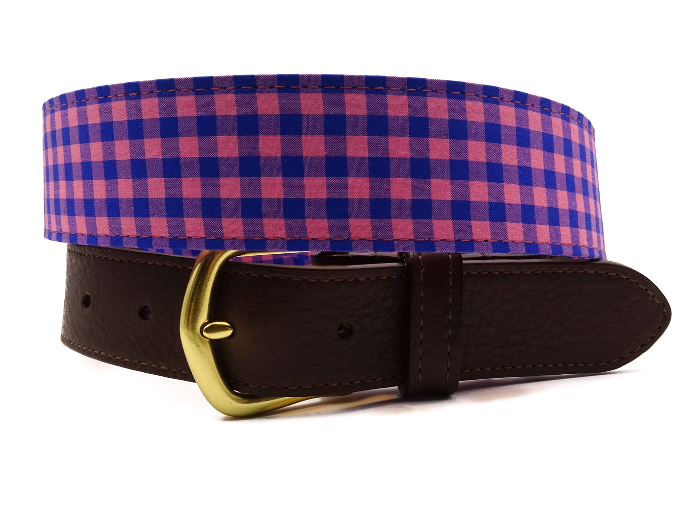 Pink & Blue Leather Tab Belt - FH Wadsworth
