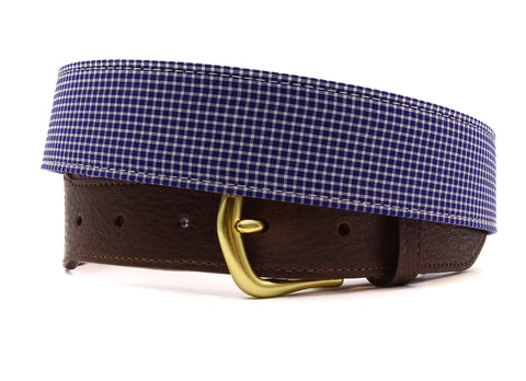 Seaside Cotton Leather Tab Belt - FH Wadsworth