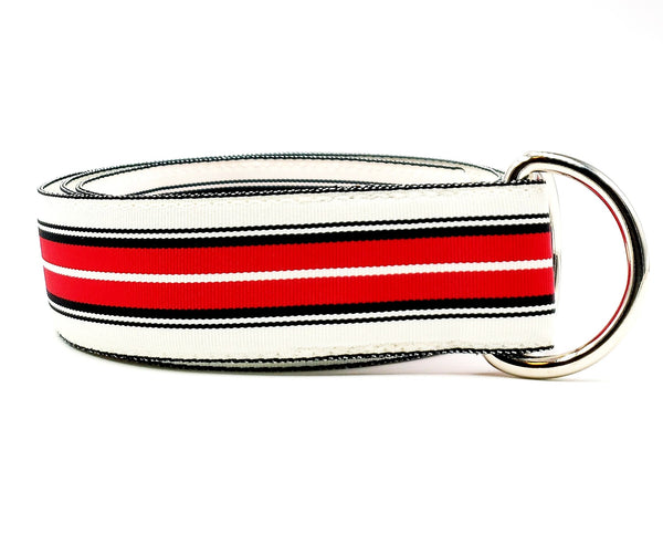 Crew Red & Black Striped Ribbon Belt - FH Wadsworth