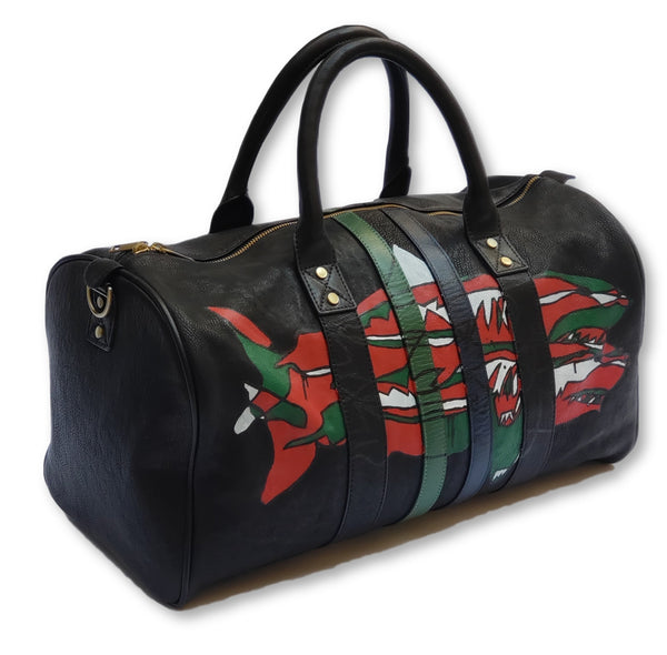 FH Wadsworth x Michael Myers  Custom Shark Leather Duffle Bag - FH Wadsworth