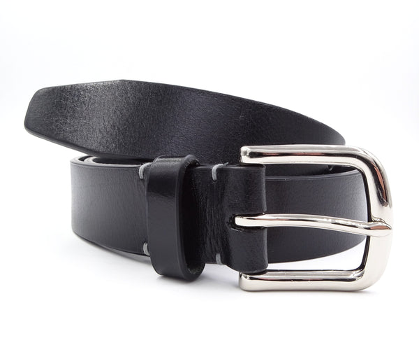 Black Leather Belt - FH Wadsworth