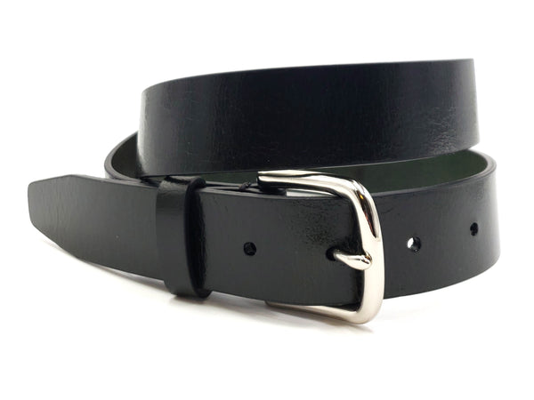 Deep Forest Green Leather Belt - FH Wadsworth