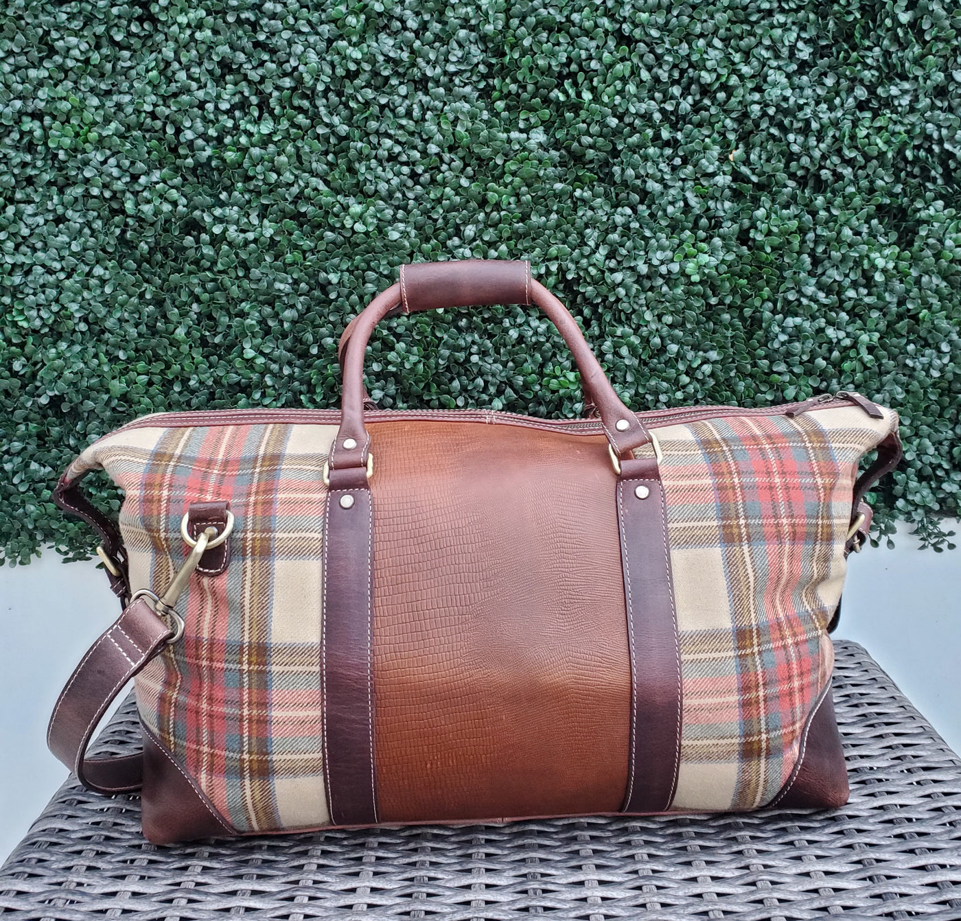 Dune Wool & Leather Duffle Bag