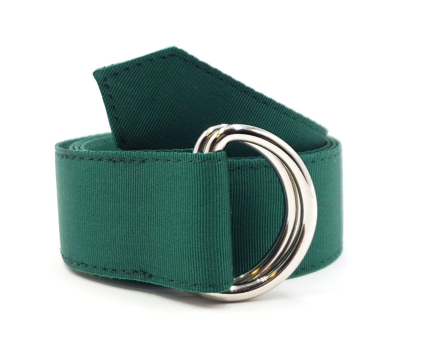 Forest Green Ribbon Belt - FH Wadsworth