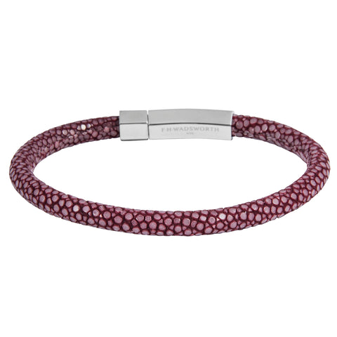 Burgundy Stingray Bracelet