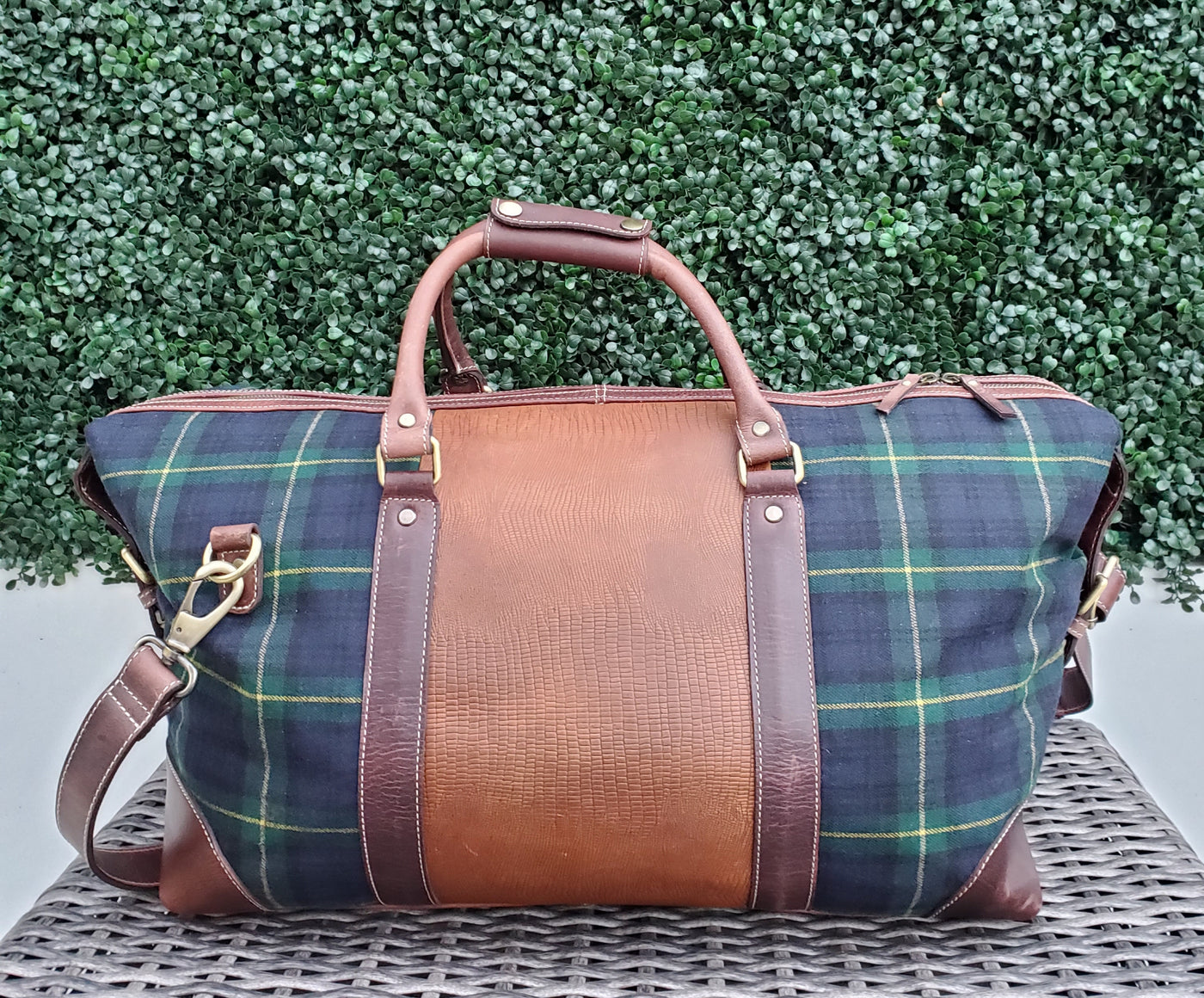 Gordon Wool & Leather Duffle Bag - FH Wadsworth