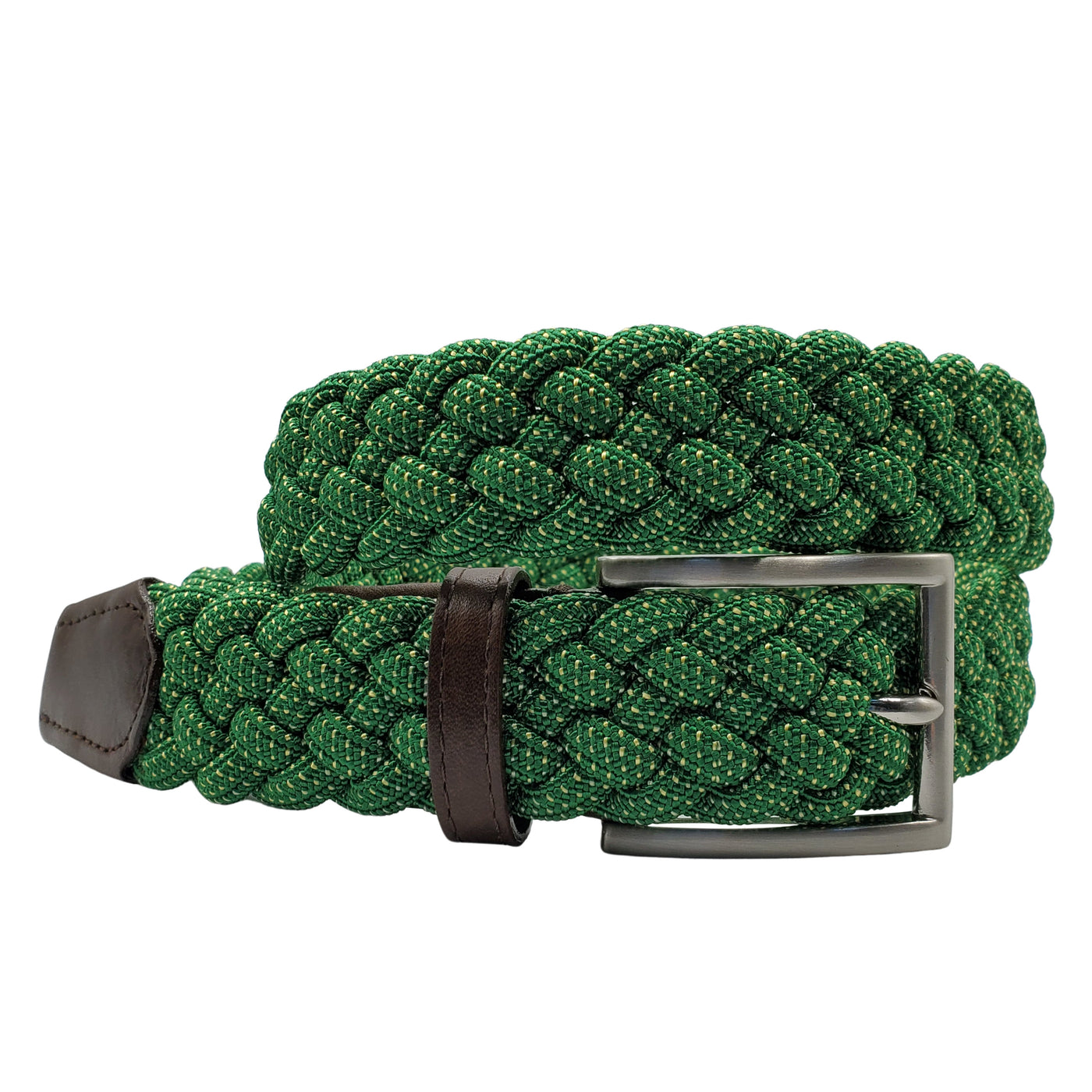 Green & Yellow Elastic Stretch Belt