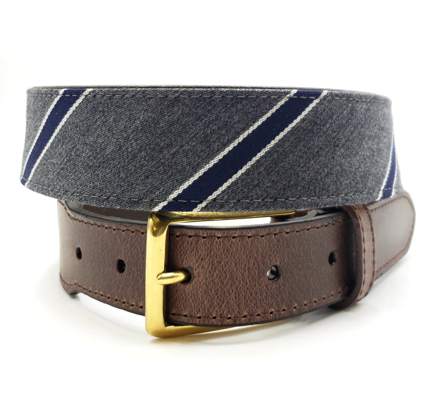 Navy & Grey Nautical Belt - FH Wadsworth