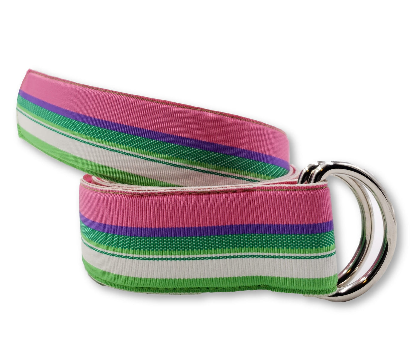 Palm Beach Striped Ribbon Belt - FH Wadsworth
