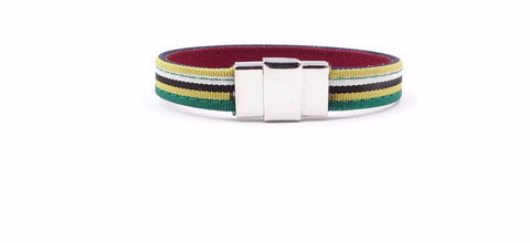 Multicolored Striped Ribbon Bracelet