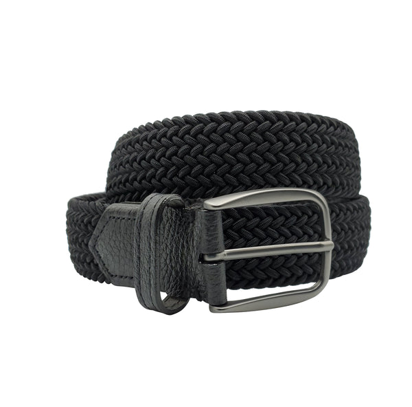 Black Elastic Stretch Belt