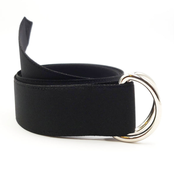 Solid Black Ribbon Belt - FH Wadsworth