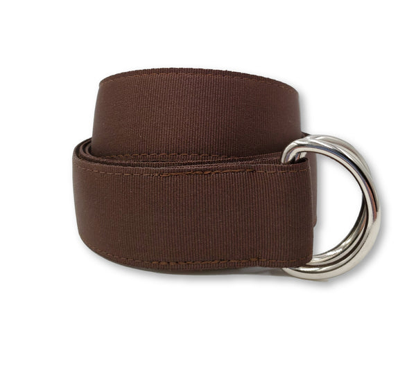 Walnut Brown Ribbon Belt - FH Wadsworth